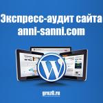 Аудит сайта anni-sanni.com