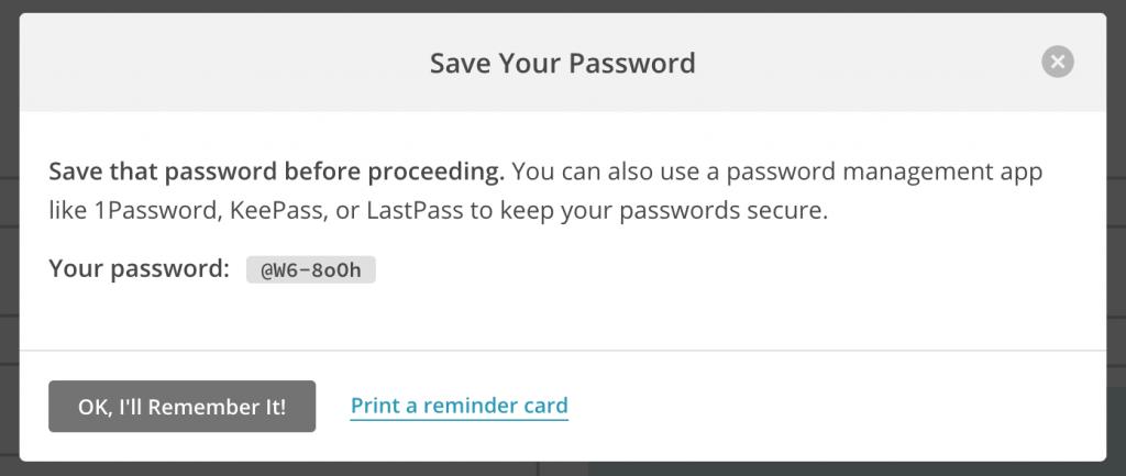 Создание сложного пароля
