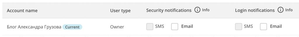 Настройка уведомлений при измении профиля MailChimp