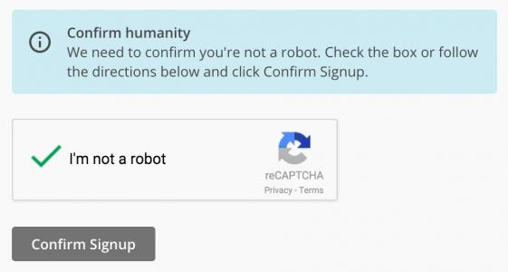 Подтверждение регистрации MailChimp