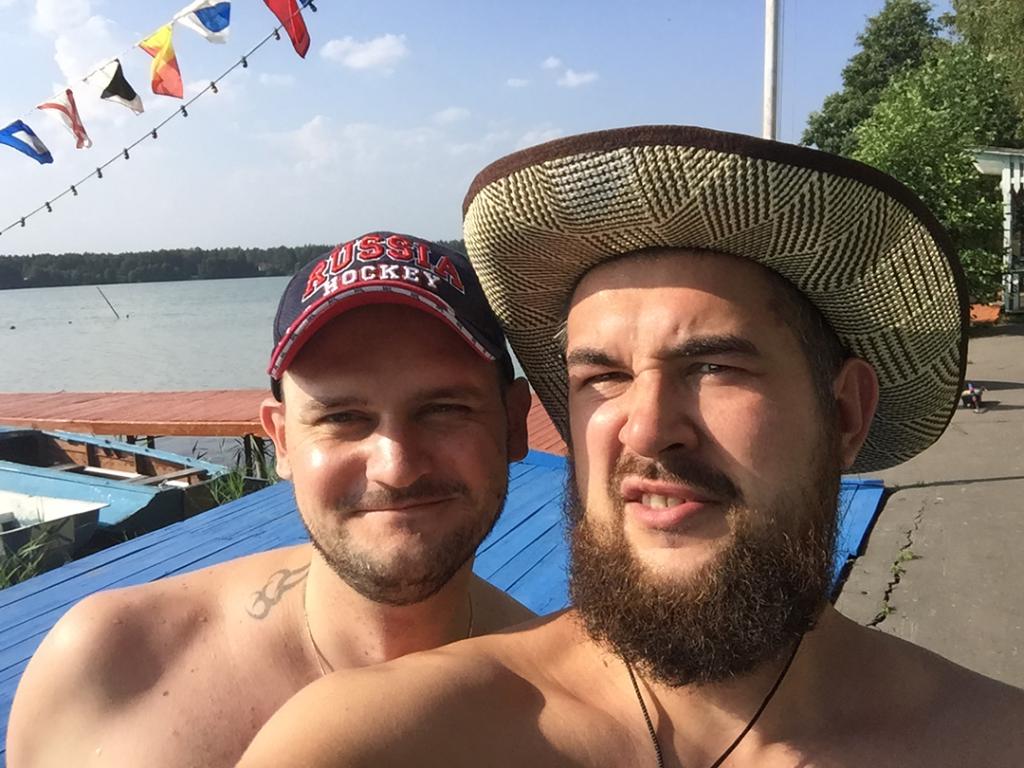Dimanos и я на озере Бисерово в Железнодорожном