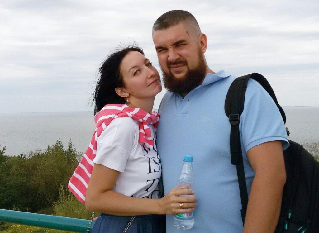 С супругой на Куршской Косе